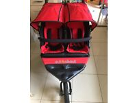 Out n About V4 double pushchair - carnival red