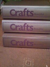 3 folders of Crafts beautiful magazines