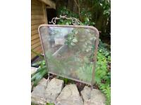 Vintage fire screen