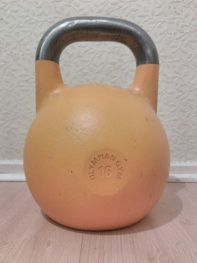 """Russian Pro Grade Competition Kettlebell 16kgin Camden, LondonGumtree - Russian Pro Grade Competition Kettlebell 16kg. """"Steel competition kettlebell Ideal for home and commercial use The highest quality kettlebell on the market Professional standard Smooth steel handle"""" (excerpt from Amazon) This is not some vinyl..."""