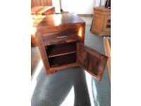 Solid Cherry oak bedside tables