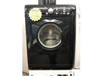 HOTPOINT 7KG DIGITAL TIMER SCREEN WASHJNG MACHINE IN BLACK