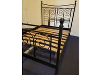 Metal Double Bed Frame black