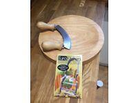 Herb chopper, board and veg peeler