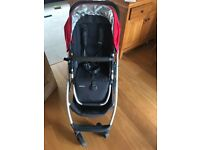 Uppababy Cruz pushchair . Used with one child. 2015 model. Wheels replaced in 2016.