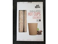 Box of 200 Cafe Express Insulated Hot Cups 8 oz / 236 ml