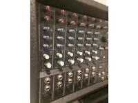 Powered mixer mackie 406m mixer amp