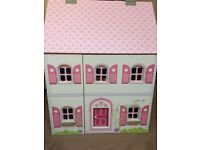 Girls Dolls House plus furniture great condition