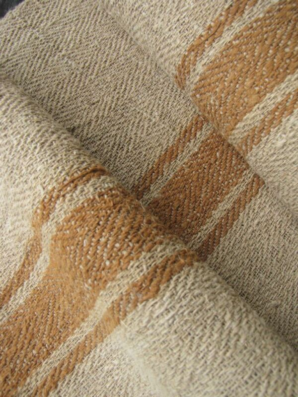 Vintage fabric homespun hemp Stair or table runner 4.5 yards Bolt