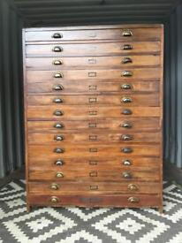 Plan chest / haberdashery cabinet