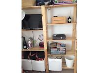 Wooden Ikea shelves