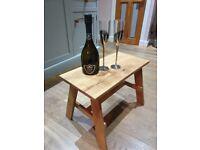 Hand made oak side table/stool