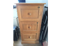 Solid Pine Filing Cabinet