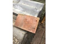 Red concrete 165x265 roof tiles