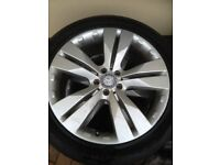 4 x 20 inch mercedes ml alloy wheels with 265/45r20 tyres