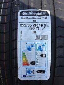 Continental contisport 5p 255/35/19 x2 brand new