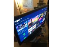 46 inch sharp tv with built in freeview and now tv box