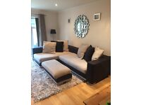 DFS Corner sofa and footstall