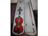 VIOLIN. FULL SIZE WITH GREAT CASE AND BOW.