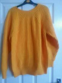 Ladies mustard yellow jumper
