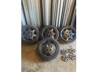 Porsche D90 Alloy Wheels + Adapters 5x100 - 5x130