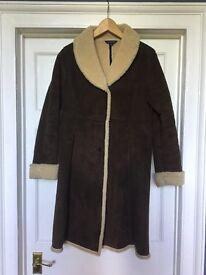 Full length sheepskin coat
