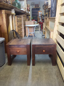 indian oak side tables H 45 w 45 d 45 CM. 35 pound for two.