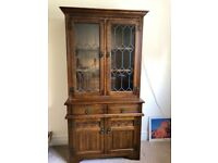 Authentic 'Old Charm' Oak Sideboard & Display Cabinet