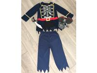 Kids pirate dressing up costume age 9-10