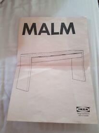 Malm Ikea dressing table/side board