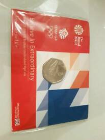 Royal Mint Team GB Rio Olympics 50p BUNC coin