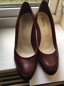 RAVEL burgundy woman shoes size 7