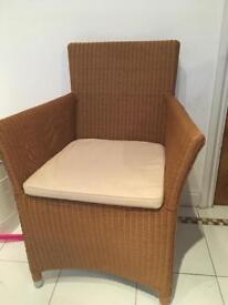M&S Rattan garden chair