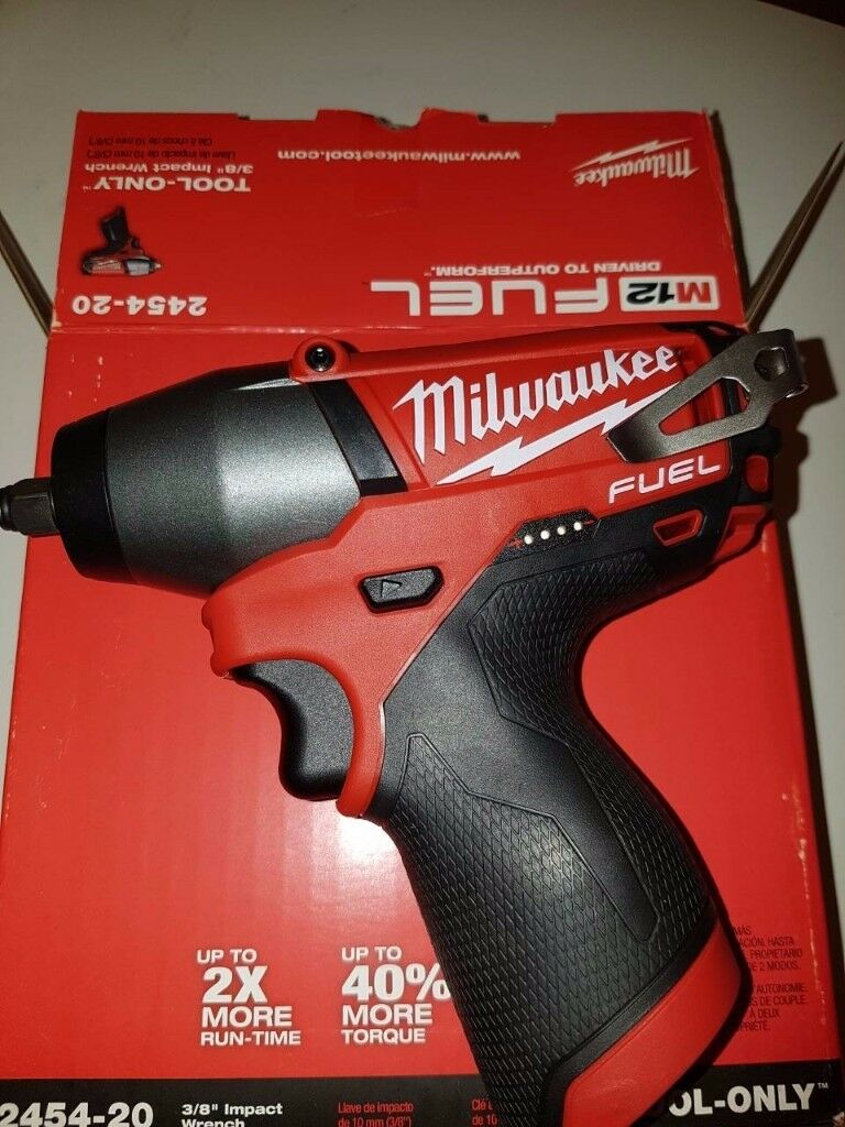 "Milwaukee Impact Wrench M12 FUEL 3/8"" 2454-20 bare tool ONLY"