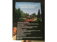 Higgs gardening/landscaping/pressure wash services.