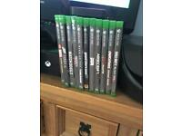 Xbox one 500gb with all leads etc and 2TB external drive