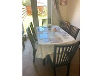 Fantastic Extendable Dark Wood Dining Table and 6 x Chairs MUST GO! Offers considered!