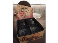 Retro vintage ravenhead glass desert bowls