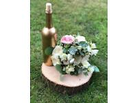 Wedding table decorations / logs