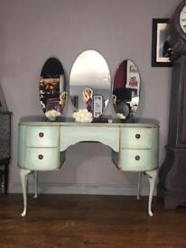 Handpainted Upcycled Vintage Dressing Table