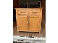 PENDING COLLECTION *Oak sideboard with cupboard and 2 draws