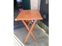 Fold Up/Occasional Small Square Table-£8
