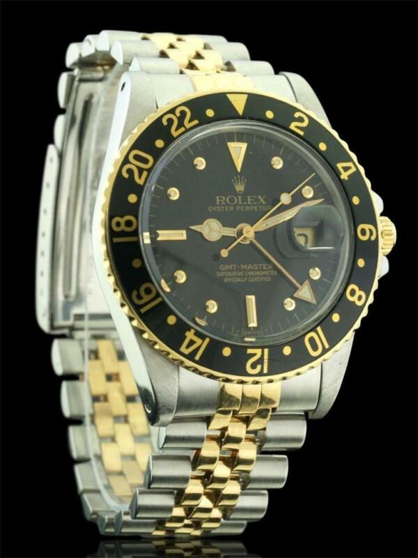 Rolex Gmt Master 16753 18k Yellow Gold & Stainless Steel Automatic Watch