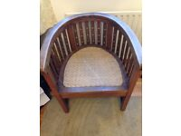 Antique Indonesian Hand Made Chair