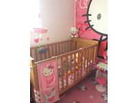 Cot , wardrobe and changing table