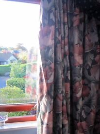 Beautiful curtains to fit large patio window, plus 4 cushion covers