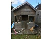 Child's Wooden Playhouse