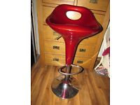 Red kitchen stool breakfast bar high chair dining room