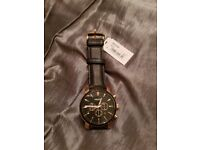 Fossil Men's Watch | BQ2286 | Stainless Steel & Leather Chronograph | £135 RRP