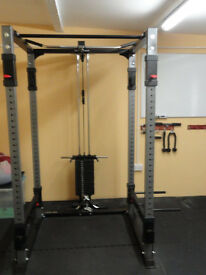 Bodycraft F430 power rack plus 200lbs weight stack and lat low pulley